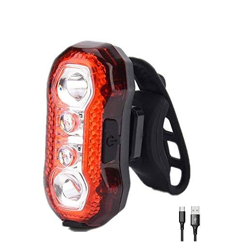 LKNJLL Luz de la Cola de la Bicicleta, USB Recargable Impermeable LED de la Bicicleta Luces de la Bicicleta Bicicleta Accesorios de la luz Trasera para Cualquier Carretera o Bicicleta de montaña