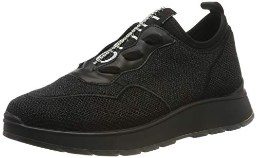 LIU JO SHOES Damen ASIA, SLIP-ON Sneaker, Schwarz 22222, 39 EU