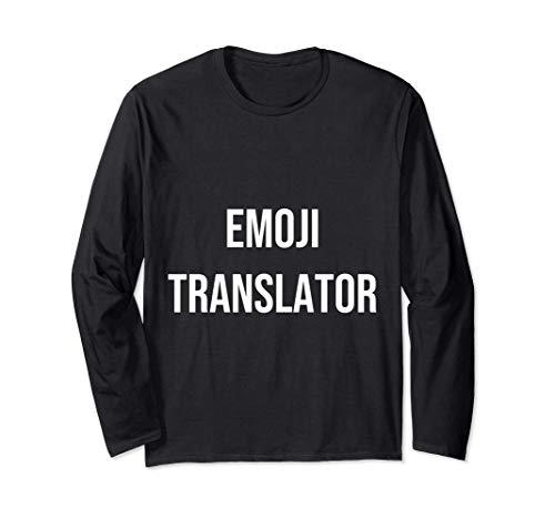 Emoji translator Funny Granddaughter Grandson Gift Long Sleeve T-Shirt