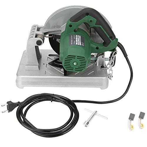 Miter Saw 1200W 220V Elektrische compound verstekzaag, instelbare zaaghoek, handzaam gereedschap met anti-slip handgreep, met steeksleutel/koolborstel, superieure prestaties (u)