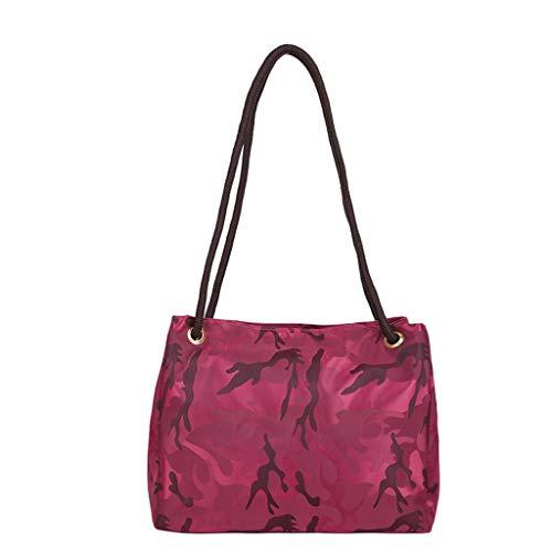 Almacenamiento de equipaje,Yesmile Bolso de lona impermeable de camuflaje de nylon bolsa de equipaje Bolsa de Viaje bolsa de viaje (Ajustable, Rosa caliente)