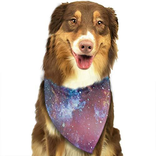 Melkachtige manier sterrenbeeld patroon aangepaste hond kat hoofddoek halsdoek set geschikt voor kleine tot grote hond katten