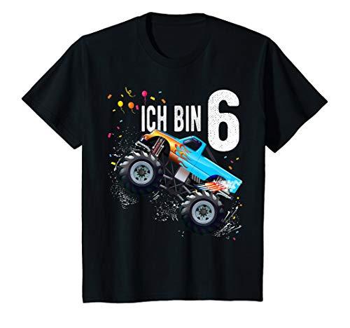 Kinder 6 jahre Junge Mädchen Geburtstag Shirt Monster Truck T-Shirt
