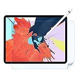 LOE iPad Pro 12.9 ペーパーライク 保護フィルム 2018-2020 年 FaceID 対応 フィルム貼り付け 安心保証付き (ブルーライトカット有り)