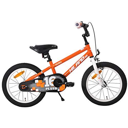 Hiland Bicicleta infantil para niñas de 4 años y más de 40 cm con soporte