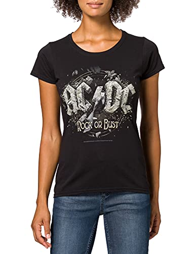 Cid AC/DC - Rock Or Bust T-Shirt Femme Multicolore FR : M (Taille Fabricant : M)