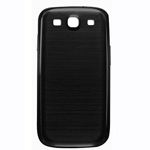 UU FIX Akkudeckel Ersatz Hoch Geeignet für Original Samsung Galaxy S3 GT-i9300 (Schwarz) Rückseite Battery Cover Ersatz Reparaturteil mit.