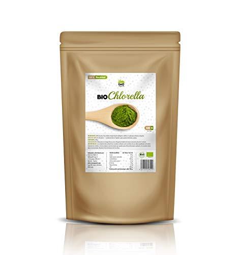 EMO Bio Chlorella Ecológica - 500 gramos - 100% Ecológica - Rica en Proteína Vegetal - Beneficiosa para la Salud - Rica en Clorofila - Apto para Veganos - Aumenta tu Energía