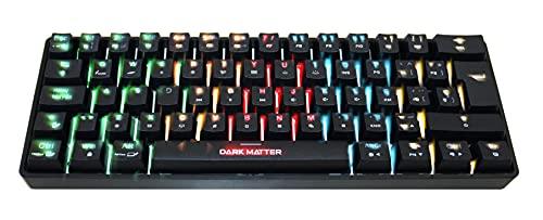 Dark Matter - Teclado Gaming Inalámbrico, Teclado Gaming Mecánico Compacto con Retroiluminación Dinámica RGB Personalizable, Anti-Ghosting, Teclado en Español, Negro