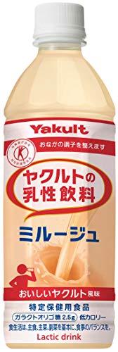 [トクホ] ヤクルト ヤクルトの乳性飲料 ミルージュ 500ml ×24本