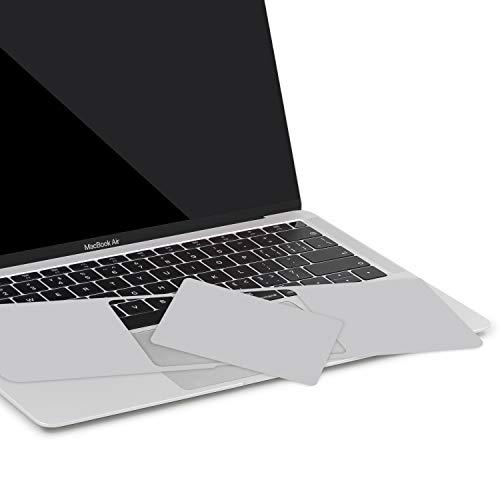 lention Palm Rest Cover Haut, Schutzfolie, Kompatibel 2018 2019 MacBook Air (13 Zoll, Modell A1932, Vinyl-Schutzaufkleber mit Trackpad-Schutz (Silber)