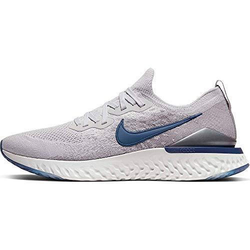 Nike Epic React Flyknit 2, Scarpe da Campo e da Pista Uomo, Multicolore (VAST Grey/Coastal Blue-Atmosphere Grey 015), 43 EU