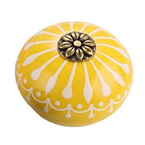 Perillas de cerámica pintadas a mano, manija redonda para cajón, puerta de muebles, armario, armario, tocador, perillas de repuesto para puerta