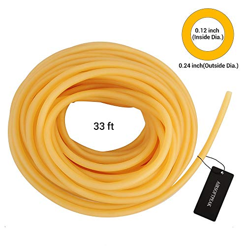 #808 Spearit 1//2in OD 1//4in ID Polespear Band//Sling Thick Walled Latex Rubber Tubing ONE Continuous Piece