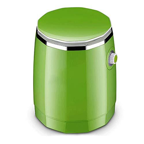 ZQY Mini Lavar la Ropa Interior Especial de la máquina automática de Alta Temperatura de cocción Pequeño Calcetines de Limpieza Esterilización Artefacto (Color : Green)