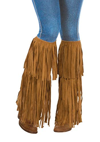Forum Novelties Fringed Suede Boot Tops, Brown, One Size (AC5532)