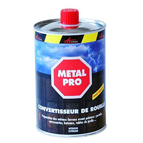 Antioxidante metálico: convertidor de óxido y tratamiento contra la oxidación – Eficaz en portal, persiana, carrocería, bicicleta, etc. – Negro – 1 L – Arcane Indtruis