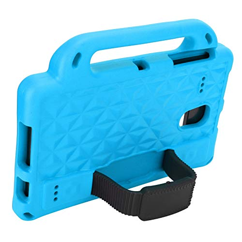 Shockproof Tablet Handle Cover Dustproof Tablet Stand Cover Kids-Friendly Protecive Sleeve Support for speakers, camera, headphones(blue)