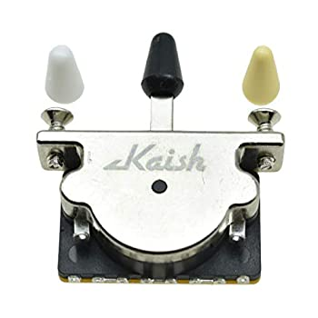 KAISH Heavy Duty 3 Way Guitar Pickup Lever Switch Pickup Selector Switch for Strat Tele with 3 Plastic Tips