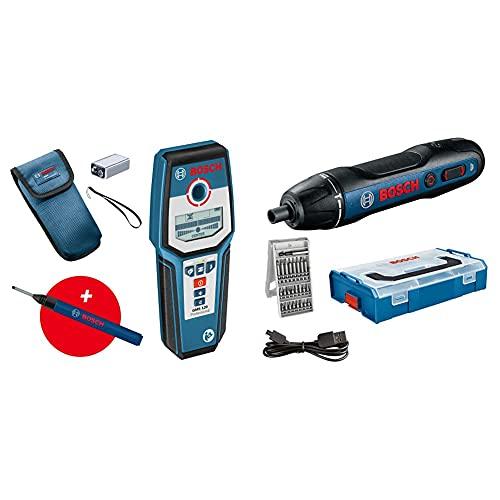 Bosch Professional Rilevatore Gms 120 - Amazon Exclusive & Avvitatore A Batteria Go, Incl. Set Di Punte 25 Pz, Cavo Di Ricarica Usb