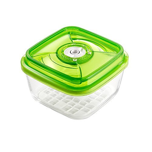 VacSy FoodSaver Vakuum Glasbehälter zum Frischhalten von Lebensmitteln - Frischhalte-Box mit 2,2 Liter