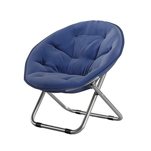 Dall Chaises Pliant Moon Round Chair Confort Chaise Soucoupe Salon Appartement Espace (Couleur : Bleu)