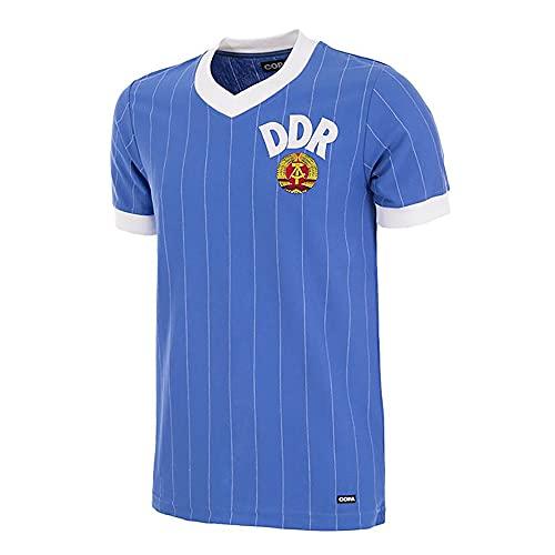 Copa Retro Trikot DDR 1985 blau (Medium, m)