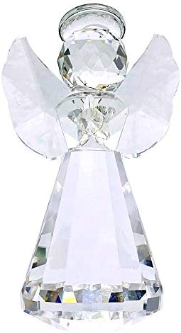 Clear glass angel figurines _image3