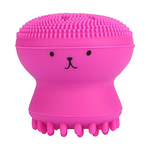 FANXIY Brosse nettoyante pour le visage Enlèvement de graisse exfoliante Outil de lavage de massage Accessoires propres(rose rouge)