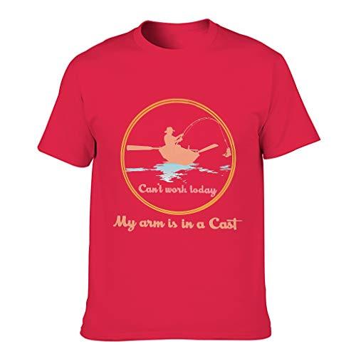 Knowikonwn Can't Work Today - Camiseta de algodón para hombre, diseño de pasatiempo