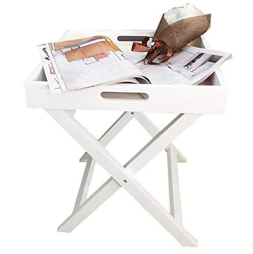 Klaptafel tuintafel eettafel kleine vierkante tafel sofa zijkast Nordic Simple balkontafel slaapkamer nachtkastje (kleur: geel) wit