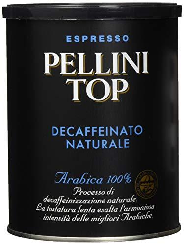 Pellini Caffè, Pellini Top Arabica 100{6b97e7031171ee3787c799d8f59584c4c64b1c37f8bcd25699beca0c5b9eed41} für Espressokanne Decaffeinato Naturale (1 x 250 g)