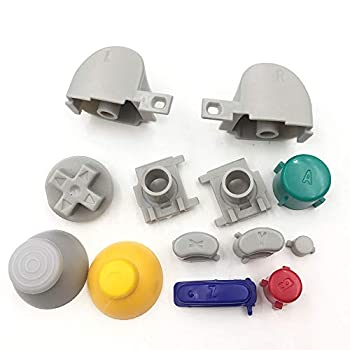 Colorful L R Right Left Trigger Buttons D-Pad Mod Kit Set Full Button Joystick Thumb Grip Thumbstick for Nintendo Gamecube NGC Controller Replacement Parts