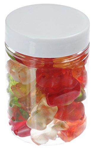 Pot de PET 100 ml transparent, avec couvercle en plastique, blanc, 10 pièces