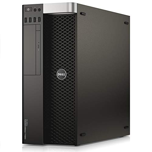 Dell Precision T3610 Desktop Tower Xeon E5-1607v2 3.0GHz 16GB 512GB SSD WiFi Quadro K600 Windows 10 Pro (Renewed)