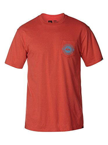 Quiksilver Mens Squadron MFK Graphic T-Shirt, red, Small