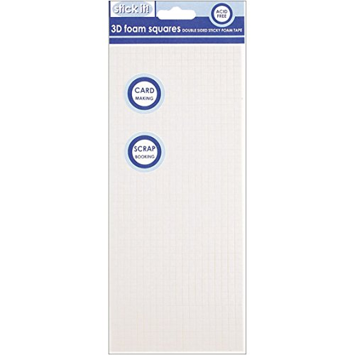 Stick It 3D Double-Sided Adhesive Foam Squares, Clear