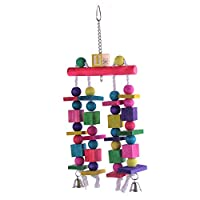 SUND 鳥ペット ペットおもちゃ パロット用品 オウムおもちゃ パロット噛む玩具 木製玩具