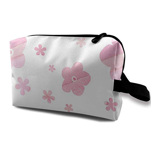 Blush Pink Blossom_450 Trousse de toilette portable à suspendre pour femme et fille 25,4 x 12,7 x 15,2 cm