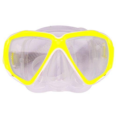 TINAYAUE Máscara de esnórquel antifugas de silicona para buceo, natación, equipo de esnórquel, antivaho, gafas de buceo para niños y adultos