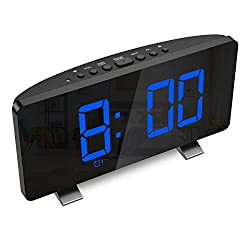 KeeKit [2020 New] Digital Radio Alarm Clock, Large 7.3'' LED Display Alarm Clock for Bedroom with FM Radio, Dual Alarms, Snooze, USB Port for Charging, 4 Brightness, Automatic Dimmer for Kid, Senior