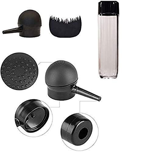 Fully Hair Building Fiber Spray Applicator Nozzle Pump Applicator With Optimizing Hair Comb For Unisex Black Pack Of 1