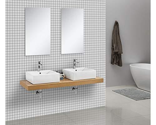 Waschtischkonsole OCEAN 150 x 50 cm Echtholz Eiche, Badezimmer Badmöbel Waschbecken Bad Waschtisch Echtholz