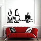 Applique murale de salon de beauté ongle de salon autocollant mural modèle pédicure amovible imperméable 42 * 79cm