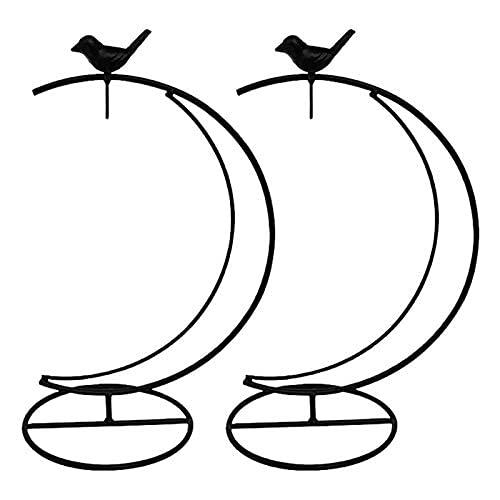 JUUY Soporte de exhibición de Adornos Pothrook Soporte para la Bola de Cristal/de la Flor Pot/Linterna Planta de la luz Potes de Las macetas (Color: Negro)