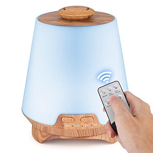 Umidificatore diffusore di aromi profumato ad aria ad ultrasuoni telecomando, diffusore di olio essenziale, umidificatore portatile per aromaterapia, purificatore d'aria, diffusore di aromi a nebbia