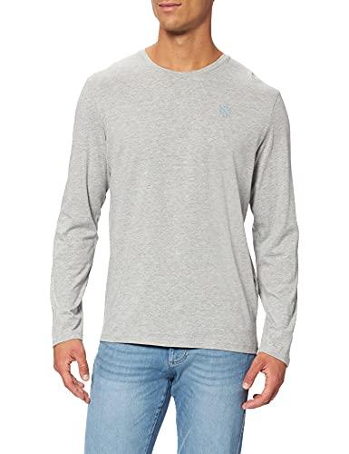 TOM TAILOR Herren Basic Longsleeve T-Shirt, 11087 - Middle Grey Melange, XL