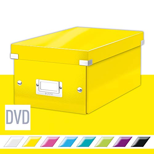 Leitz Click & Store DVD Aufbewahrungsbox, gelb, 60420016