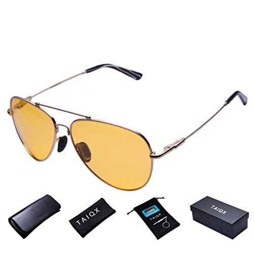 TAIQX Men's Aviator Polarized Sunglasses - 400 UV Protection Premium Military