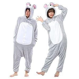 【 豊富なデザイン 】monoii ねずみ 着ぐるみ ネズミ コスプレ かわいい 動物 着ぐるみパジャマ 大人 アニマル パジャマ メンズ レディース d705